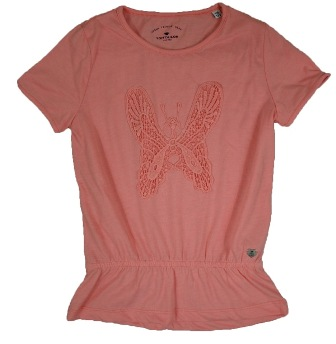 Tom Tailor Junior/Youth Girls Crochet Butterfly Top - Coral