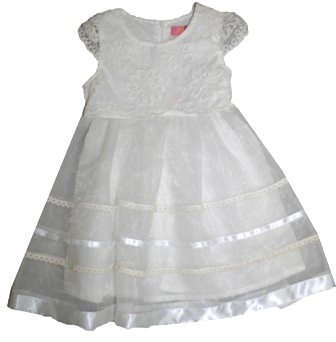 Inreer by Bonnybilly Girls' Broderie Anglaise Formal Occassion Dress - White