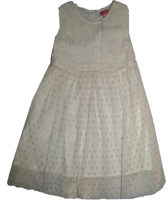 Inreer Girls' Beaded Party Dress - Champagne