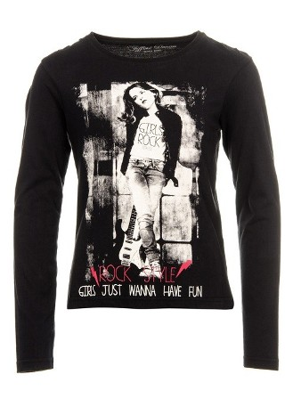 Tiffosi Girls Latoya L/S - Black