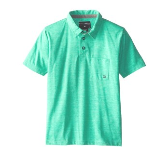 Billabong Junior Boys Standard Issue Polo - Green