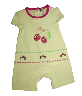 Orchestra France Infant Cherry Romper - Yellow
