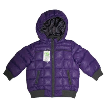 Kingkow Junior Unisex 80% Goose Down 20% Feather Lightweight Puffer Jacket - Purple