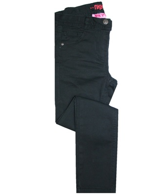 Kiabi Junior/Youth Girls Urban Rocker Stretch Skinny Jeans  - Black