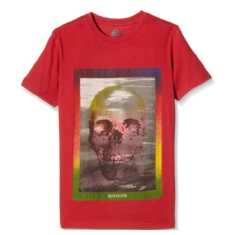 Quiksilver Youth Boys Acid Skull S/S Tee - Red