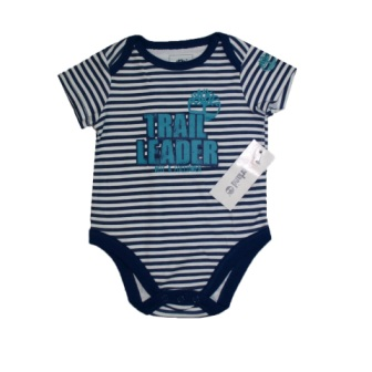 Timberland Infant Trail Leader Striped Onesie - Navy