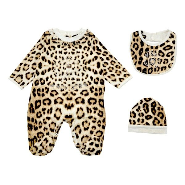 Roberto Cavalli Infant/Toddler Girls Velvet Leopard 3-Pc Set