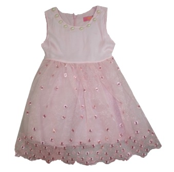Inreer by Bonnybilly Milk Silk Sequin/Pearl Party Dress - Pink