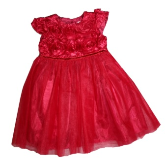 Pettigirl Bonnybilly Girls 3D Rosette Formal Dress - Red