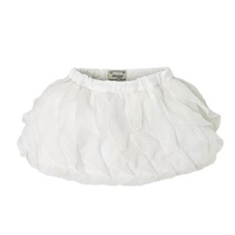 Mayoral Girls Ruffled Chiffon Skirt - White