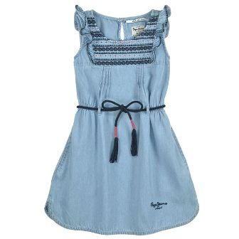 Pepe Jeans Girls Chambray Dress