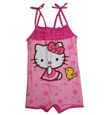 Sanrio Hello Kitty Girls Boy Leg Swimsuit -  Pink