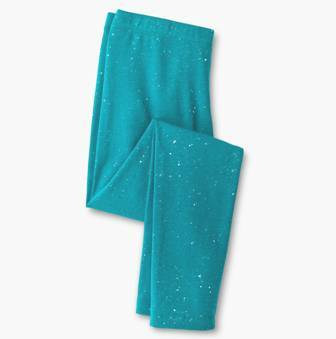 Feral Princess Girls Glitter Sparkle Leggings - Aqua