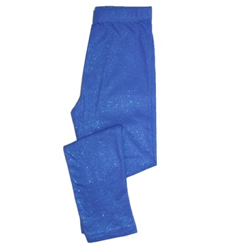 Feral Princess Girls Glitter Sparkle Leggings - Sapphire Blue