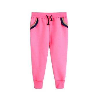 Funky Babe Junior Girls Tassel Joggers   -  Hot Pink