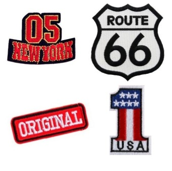 Boys 4 Pcs Americana Iron On Patch Set