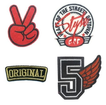 Boys 4 Pcs Original Retro Iron On Patch Set