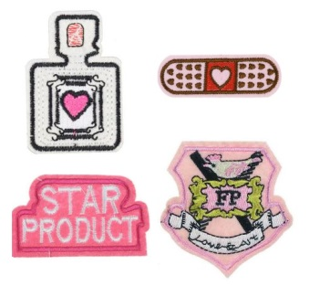 Girls 4 Pcs Fashion Police Iron On Patch Set