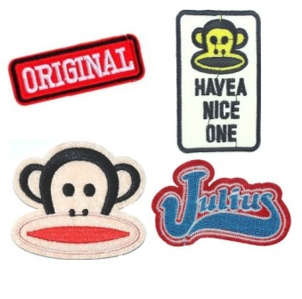 Boys 4 Pcs Paul Frank Original Iron On Patch Set