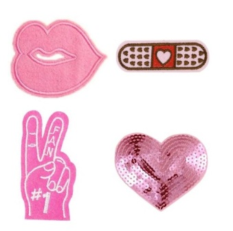 Girls 4 Pcs  No.1 Fan with feature Sequin Iron On Patch Set