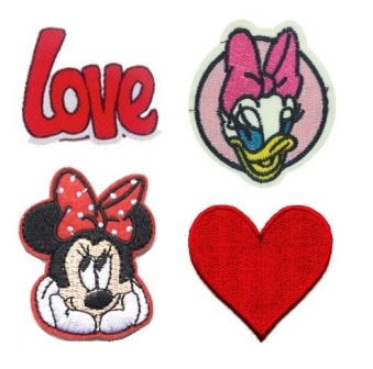 Girls 4 Pcs  Minnie & Daisy Iron On Patch Set