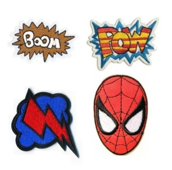 Boys 4 Pcs Spiderman Iron On Patch Set