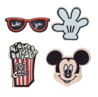 Boys & Girls 4 Pcs Mickey Mouse Iron On Patch Set