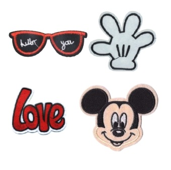 Boys & Girls 4 Pcs Love Mickey Mouse Iron On Patch Set