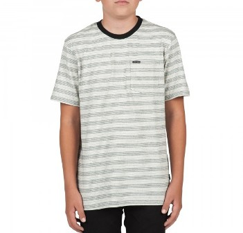 Volcom Junior Boys Alden Tee - White/Grey