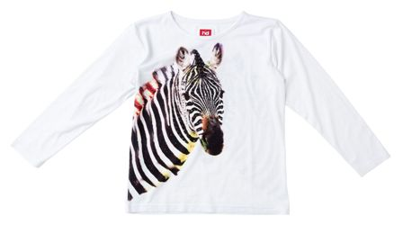 Havoc Denim Junior/Youth Girls Zebra Print Long Sleeve - White