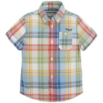 Mayoral Boys Plaid Check Shirt - Multi