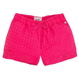 Mayoral Girls Eyelet Shorts - Pink